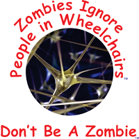 Zombie-Wheelchair Awareness Campaign.